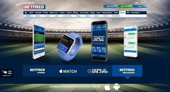 Betfred Sports Betting App